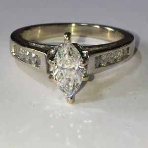 Jewelry - 14K White Gold 1.13CTW Natural Diamond Ring Engage